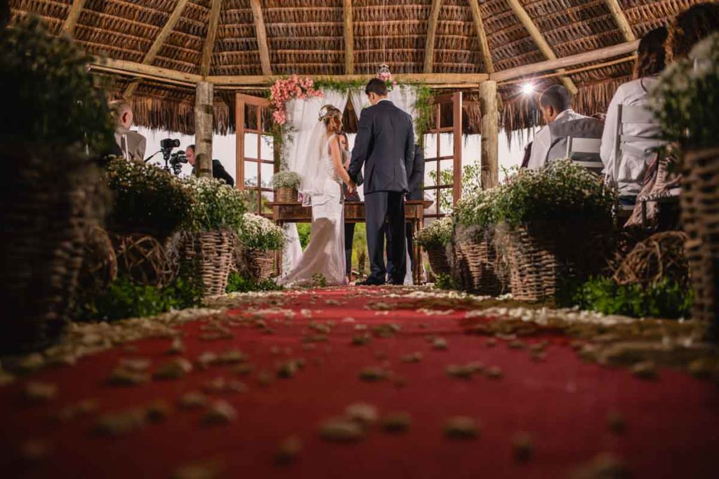 Linda cerimônia de casamento