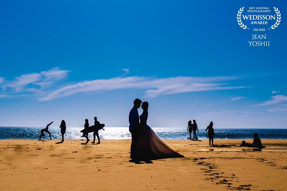 Trash The dress na praia
