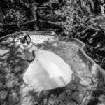 Ensaio Trash The Dress realizado no parque Lage
