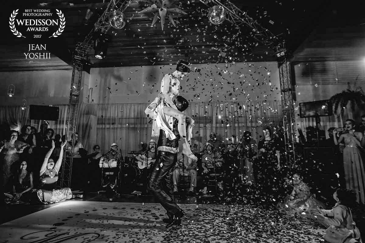 Primeira dança do casal - casamento realizado em teresopolis