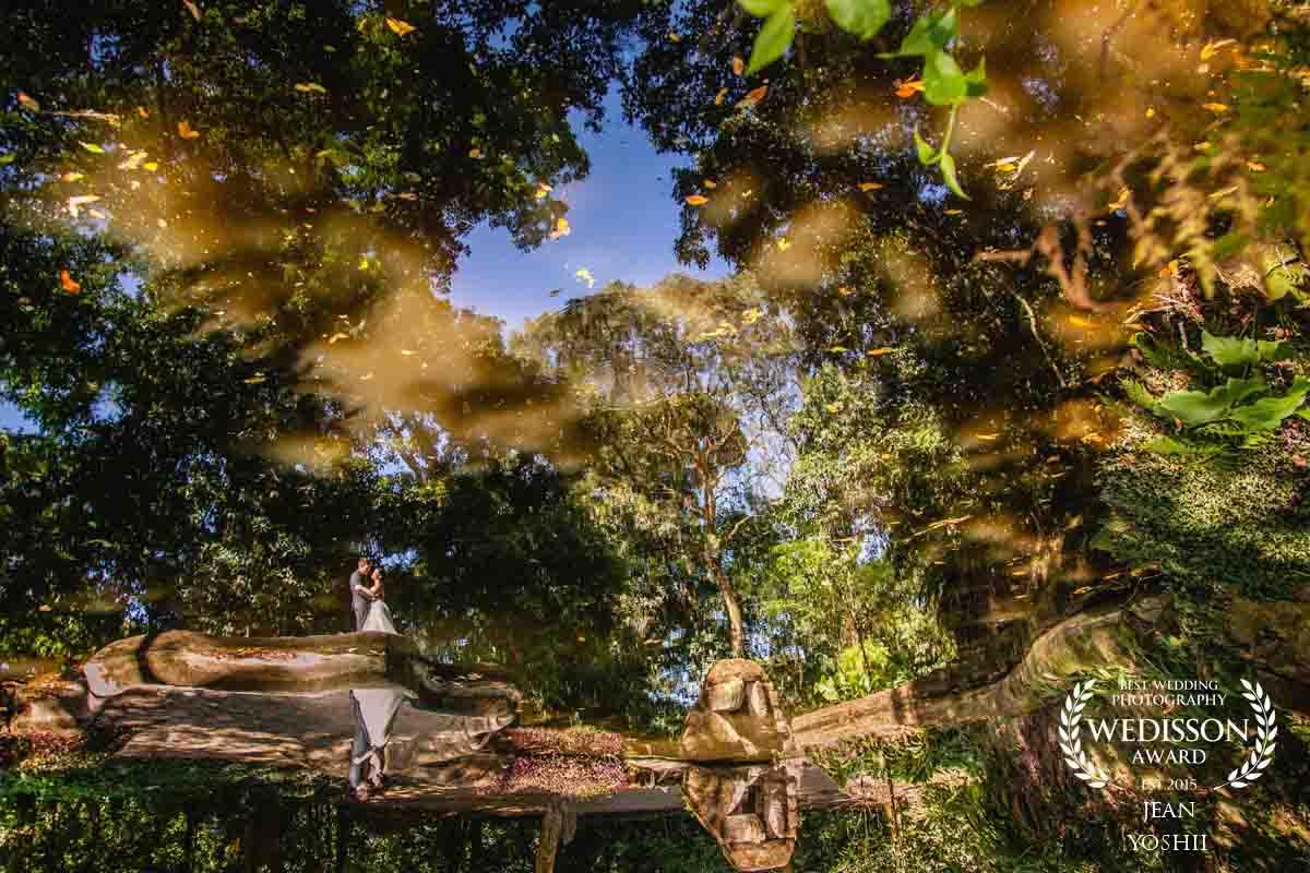 Ensaio pós casamento realizado no Parque Lage RJ