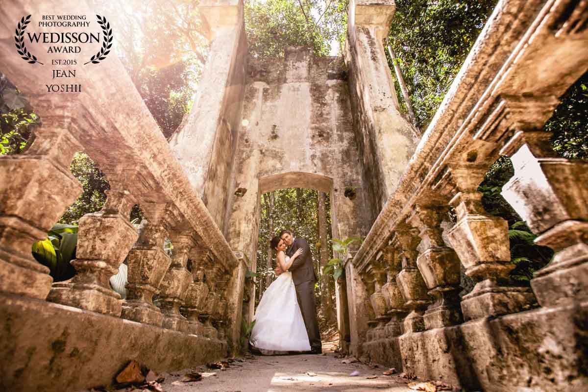 Ensaio Trash the dress no parque Lage RJ